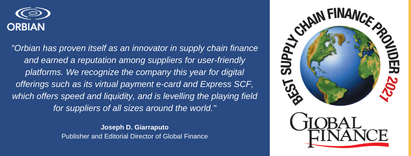 Orbian named Best Supply Chain Finance Provider (non-bank) for the 10th time!